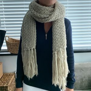 REALLY BIG KNIT SCARF OATMEAL COLOR